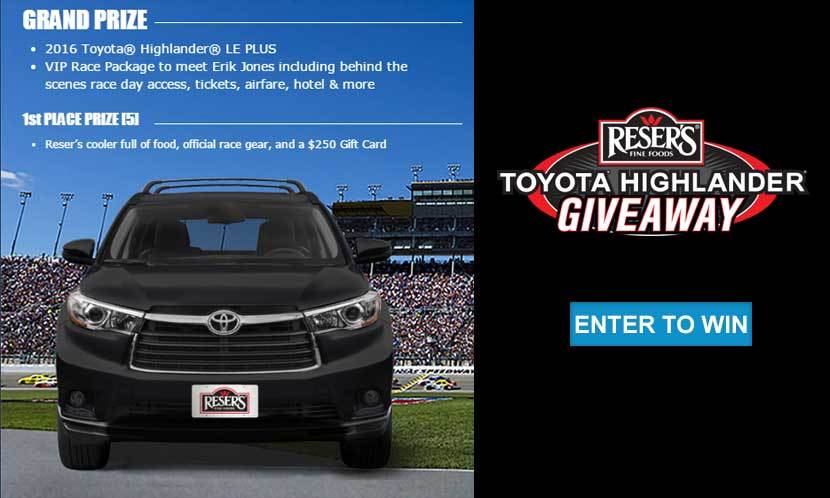 Resers Toyota giveaway