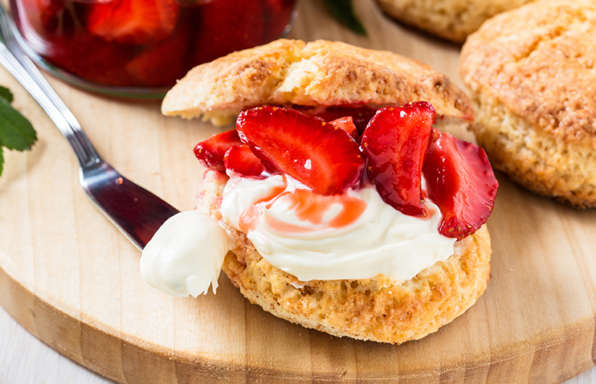 Fluffy Strawberry Biscuits