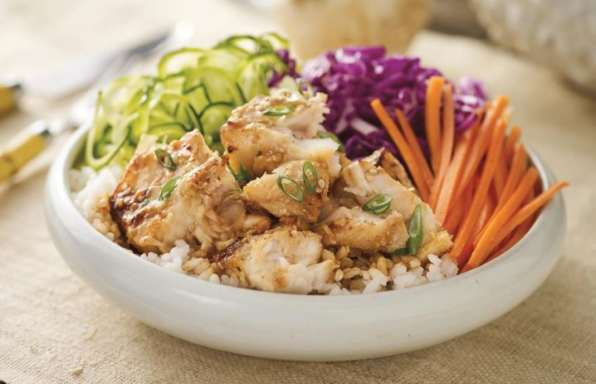 Recipe - Miso-Glazed Alaskan Pollock Rice Bowl
