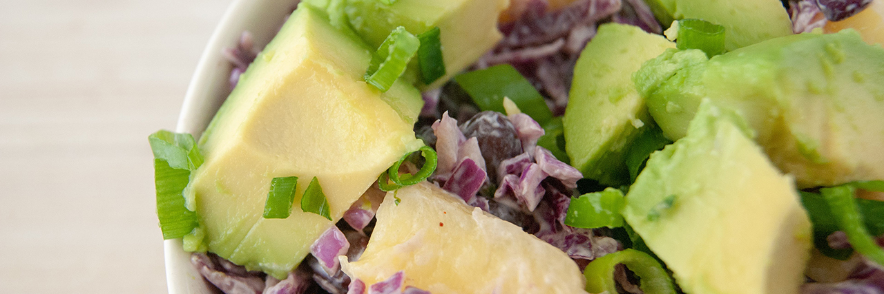 Black Bean Slaw with Avocado
